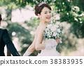 가든 웨딩 신부 신부 38383935