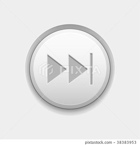 FAST FORWARD round white interface button 38383953