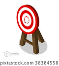Breakthrough Target Goal Flat Vector Isometric. 38384558