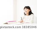 공부, 숙제, 아이 38385046