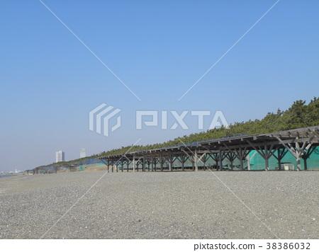 稻毛海岸车站 沙滩 灰色 38386032