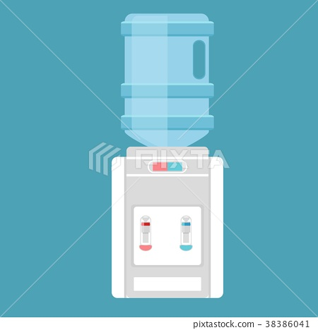 Desktop water cooler vector illustration in flat 38386041