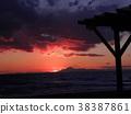 sunset, red, winter 38387861