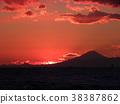 sunset, red, winter 38387862
