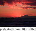 sunset, red, winter 38387863