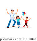 children, father, playing 38388841