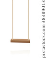Swing Wooden Playground Toy Hanging Seat 38389013