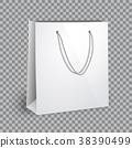 Blank white shopping bag mockup 38390499