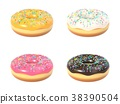 Delicious colorful donut set 38390504