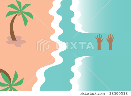 Drowning person illustration 38390558