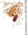 Sugar on white. 38392798