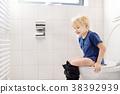 Cute little boy in restroom 38392939