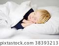 Cute little boy sleeping 38393213
