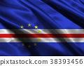 Cape verde flag ,3D Cape verde national flag 3D il 38393456