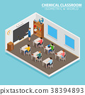 classroom, isometric, school 38394893
