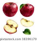 ผลไม้,สีแดง,แอปเปิล 38396170