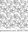 Floral pattern with Orchids. 38397706