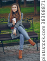 girl with coffe 38398871