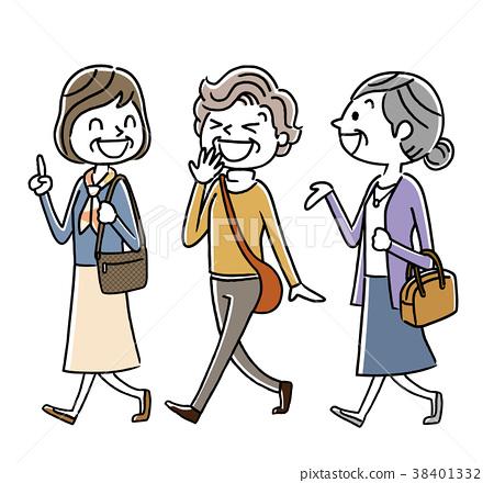 高级女性:外出,旅游,外出,朋友 38401332