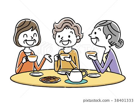 高级女士:下午茶,朋友们 38401333