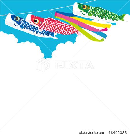 鯉魚飄帶背景例證 38403088