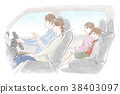 차를 타고 가족 38403097