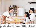 進餐 父母和小孩 親子 38404541