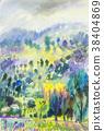 สีน้ำ,จิตรกรรม,วาดภาพ 38404869