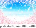 벚꽃 봄 꽃 배경 38405484