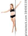 dancer, woman, pole 38406339