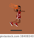 Bascketball female player 38408340