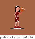Bascketball female player 38408347