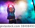 A little drummer girl. 38408493