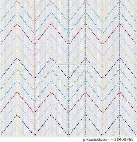 Kimono pattern. Sashiko motif. Seamless texture. - Stock ...