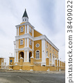 Dutch Colonial architecture in Willemstad, Curacao 38409022