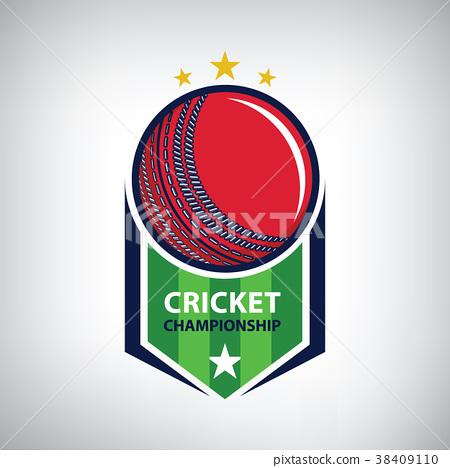 Cricket championship logo 38409110