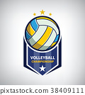 Volleyball championship logo 38409111