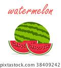 西瓜 水果 夏天 38409242
