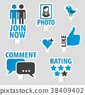 sticker icon social 38409402