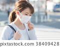 女商人咳嗽 38409428