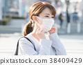 마스크를하는 사업가 38409429