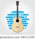 吉他 单调 平 38411295