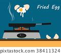 ถาด, กะทะก้นแบน,ไข่,แบน 38411324