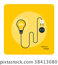 Light bulb with plug on cord - electricity  38413080