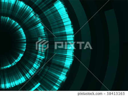 circle digital radar abstract background 38413163