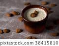 menjar blanc, typical of Catalonia, Spain 38415810