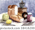 bread, apple, french loaf 38416200