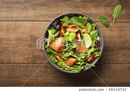 Salad salmon 38418792