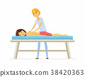 Young woman on a massage session - cartoon people 38420363
