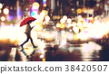 Crossing the street at night 38420507